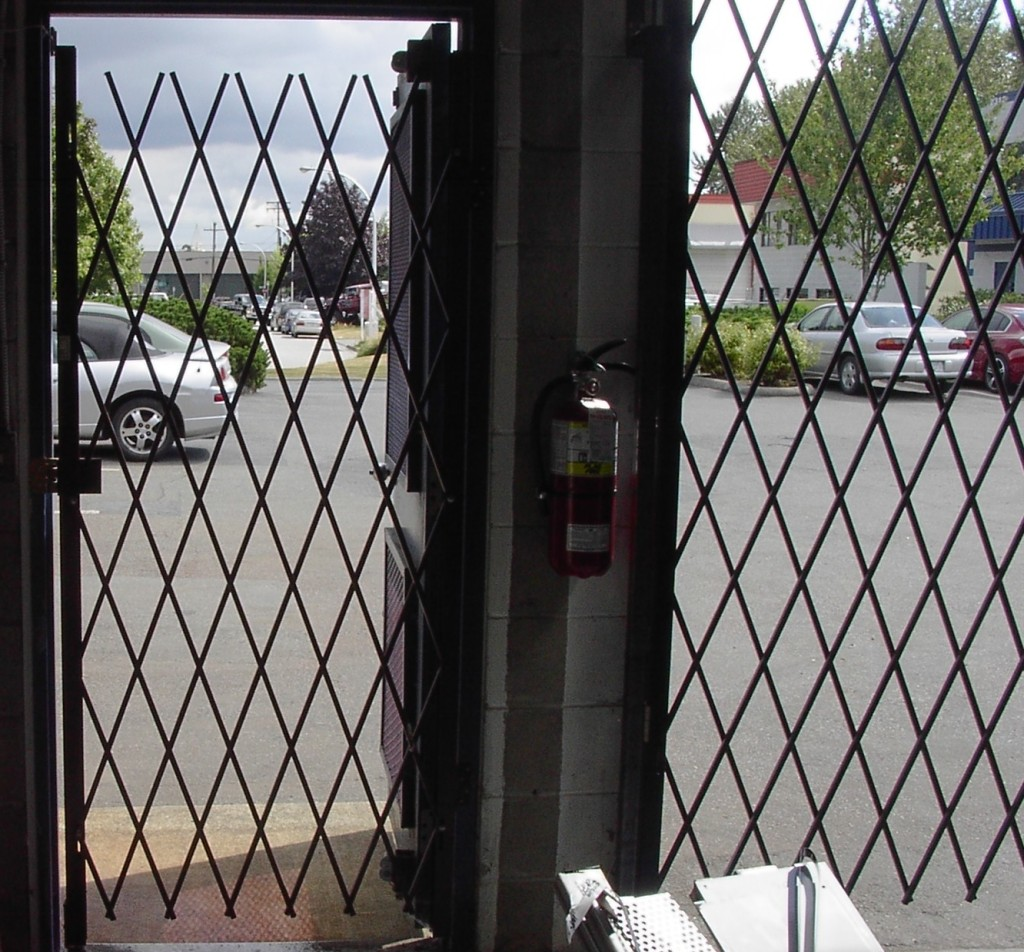 Folding security gates custom made commercial residential